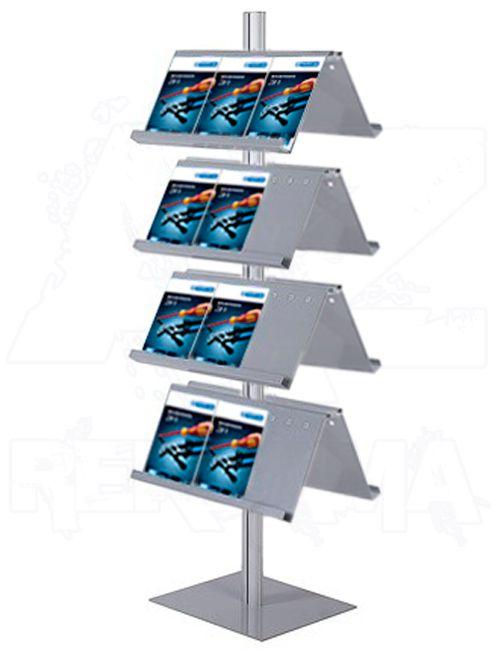 Info Pole oboustranné s kapsami na prospekty 24xA4 A-Z Reklama CZ