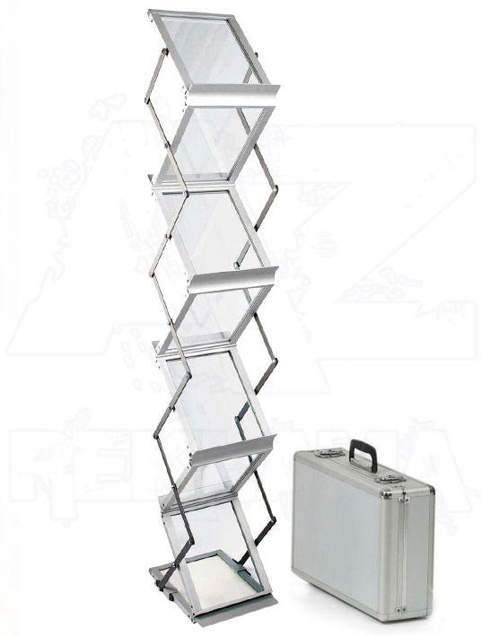 Mobilní Oboustranný stojan na letáky ZED UP A5