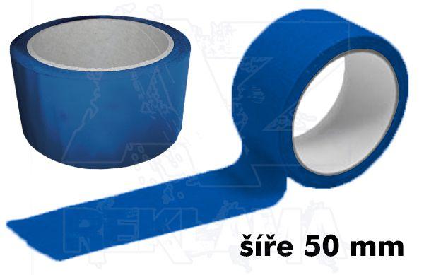 Modrá lepící páska šíře 50mm bez potisku
