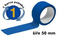 Modrá potištěná páska 50mm 1 barva