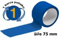 Modrá potištěná páska 75mm 1 barva