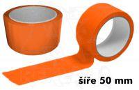 Oranžová páska 50mm bez potisku