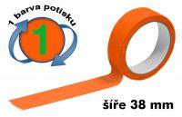 Oranžová potištěná páska 38 1 barva