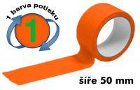 Oranžová potištěná páska 50 1 barva