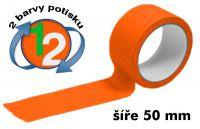 Oranžová potištěná páska 50 2 barvy
