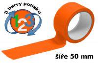 Oranžová potištěná páska 50 3 barvy