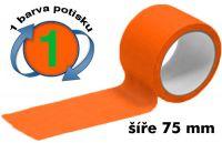 Oranžová potištěná páska 75 1 barva
