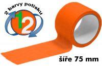 Oranžová potištěná páska 75 2 barvy