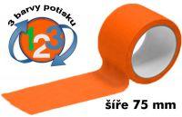 Oranžová potištěná páska 75 3 barvy