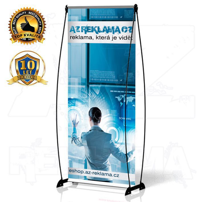 Přenosný Banner Design 100x200 konstrukce A-Z Reklama CZ