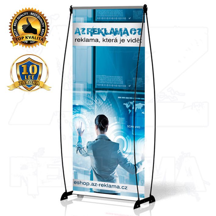 Přenosný Banner Design 60x200 konstrukce A-Z Reklama CZ
