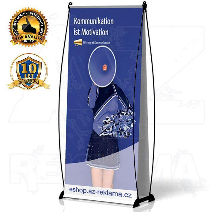 Přenosný Banner Design 85x200 oboustranný A-Z Reklama CZ