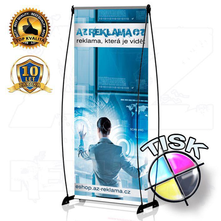 Přenosný Banner Design 85x200 s tiskem A-Z Reklama CZ