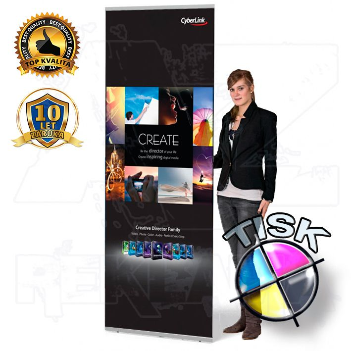 Přenosný Banner display Light 60x224 s tiskem A-Z Reklama CZ