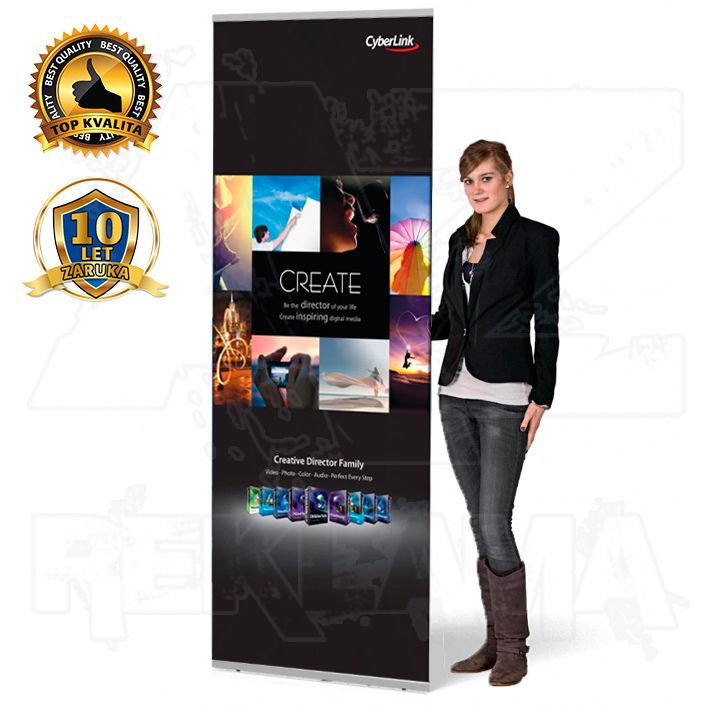 Přenosný Banner display Light 85x200 konstrukce A-Z Reklama CZ