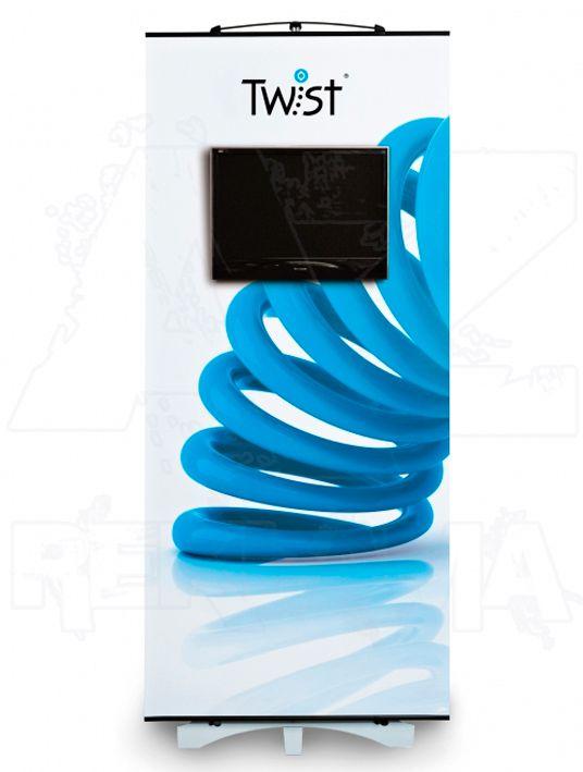 Přenosný Banner TWIST s držákem LCD 80x200