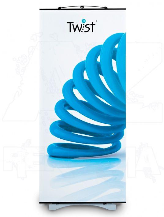 Přenosný promo Banner Twist 90x200 konstrukce