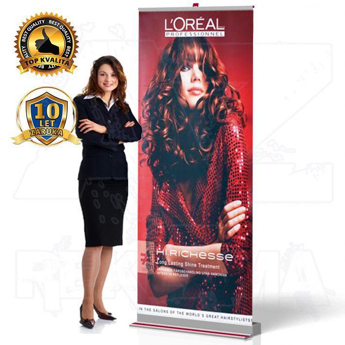 Přenosný Roll Up Banner Design 100x207 A-Z Reklama CZ