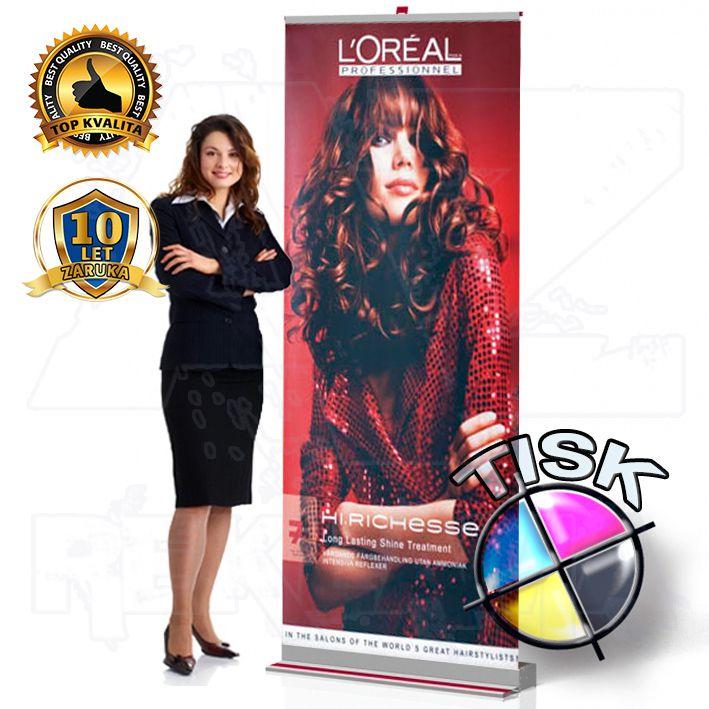 Přenosný Roll Up Banner Design 85x207 s tiskem A-Z Reklama CZ