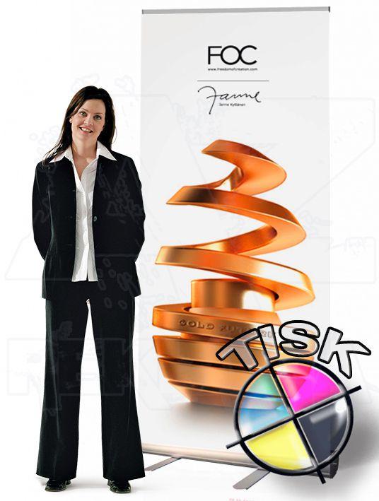 Přenosný Roll Up Banner Economy 120x206 s tiskem A-Z Reklama CZ