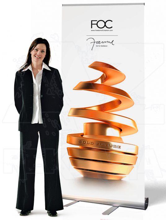 Přenosný Roll Up Banner Economy 85x206 A-Z Reklama CZ