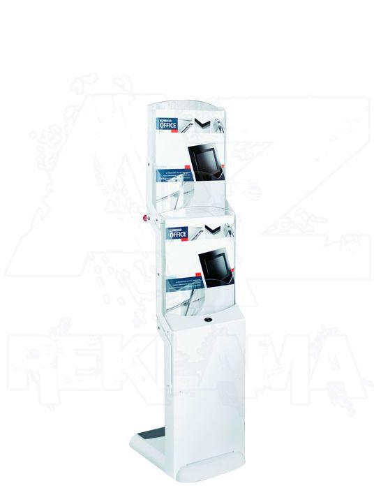 Skládací stojan na letáky Real Bianco 2x A4