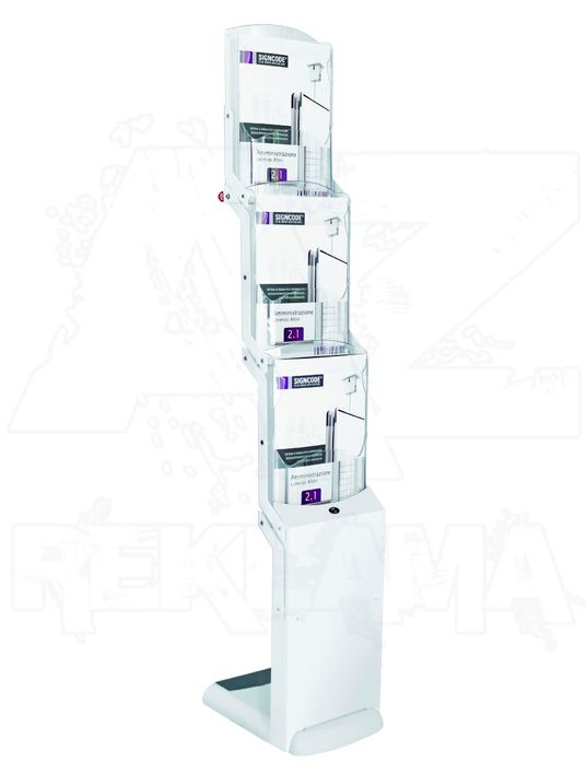 Skládací stojan na letáky Real Bianco 3x A4