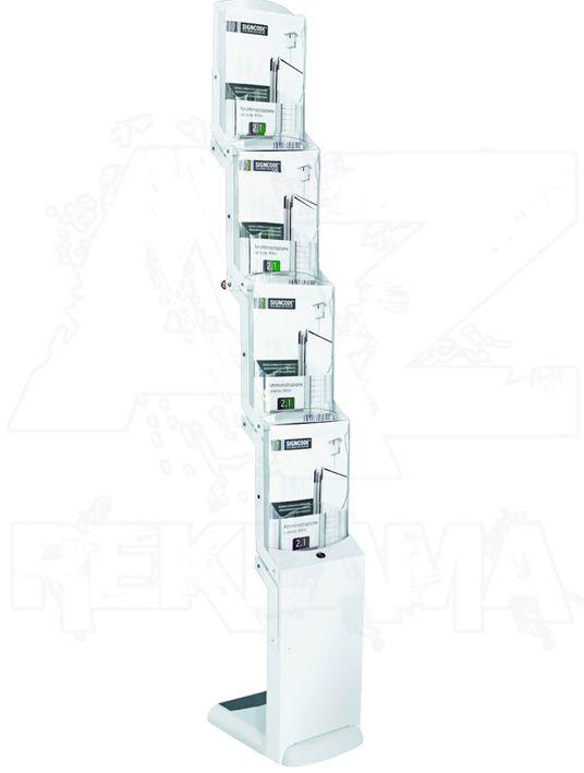 Skládací stojan na letáky Real Bianco 4x A4 A-Z Reklama CZ