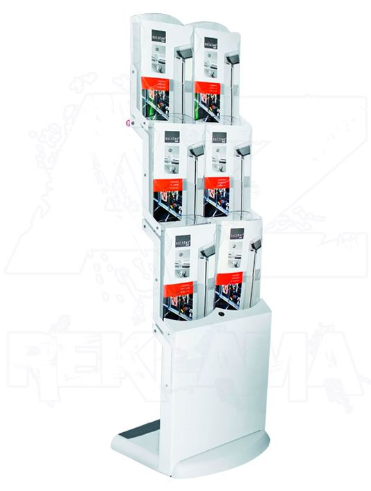 Skládací stojan na letáky Real Bianco 6x A4 A-Z Reklama CZ