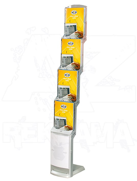 Skládací stojan na letáky Real Zip 4x A4