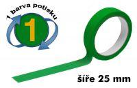 Zelená potištěná páska 25 1 barva
