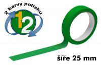 Zelená potištěná páska 25 2 barvy