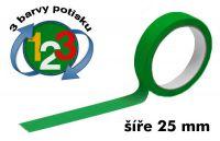 Zelená potištěná páska 25 3 barvy