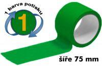 Zelená potištěná páska 75 1 barva