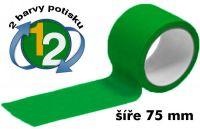 Zelená potištěná páska 75 2 barvy