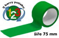 Zelená potištěná páska 75 3 barvy