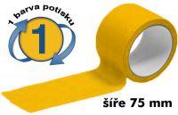 Žlutá potištěná páska 75mm 1 barva
