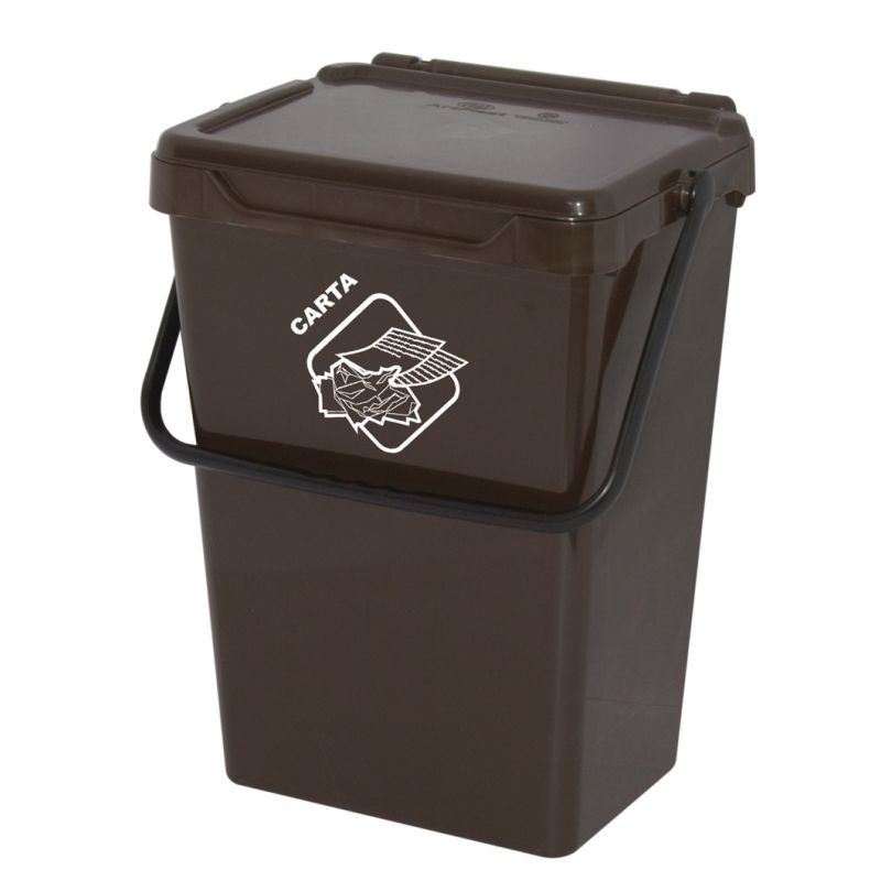 Biosystem Plastový odpadkový koš, hnědý, 35 litrů