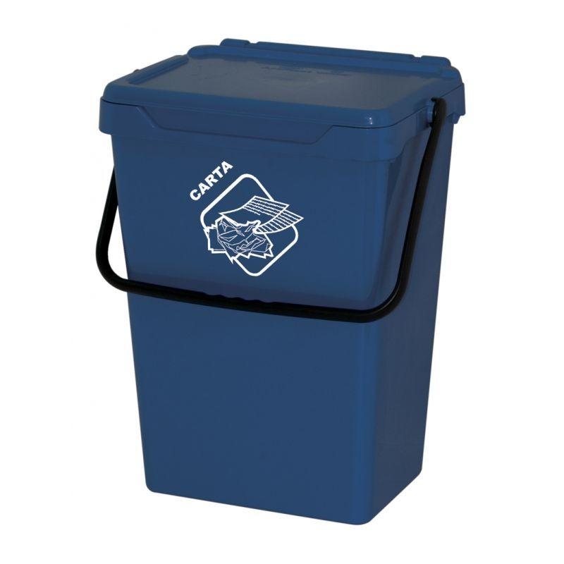Biosystem Plastový odpadkový koš, modrý, 35 litrů