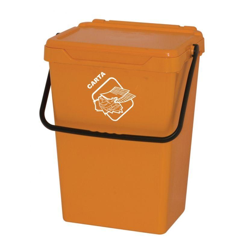 Biosystem Plastový odpadkový koš, žlutý, 35 litrů