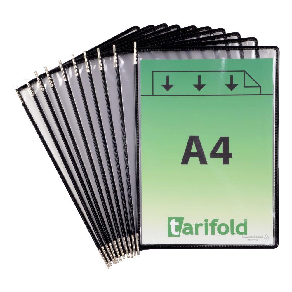 Kapsy Tarifold A4 - sada 10 ks - černé lemování kapsy