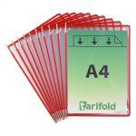 Kapsy Tarifold A4 - 10 ks - červené