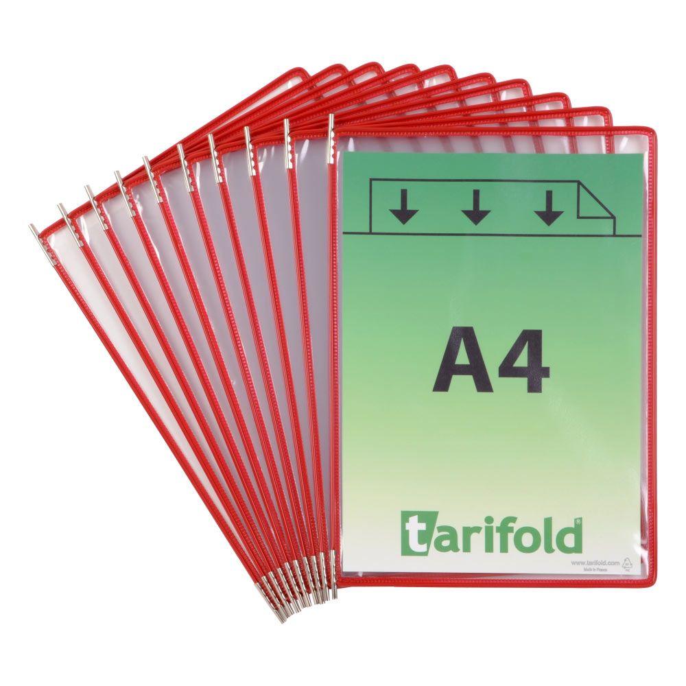 Kapsy Tarifold A4 - sada 10 ks - červené lemování kapsy
