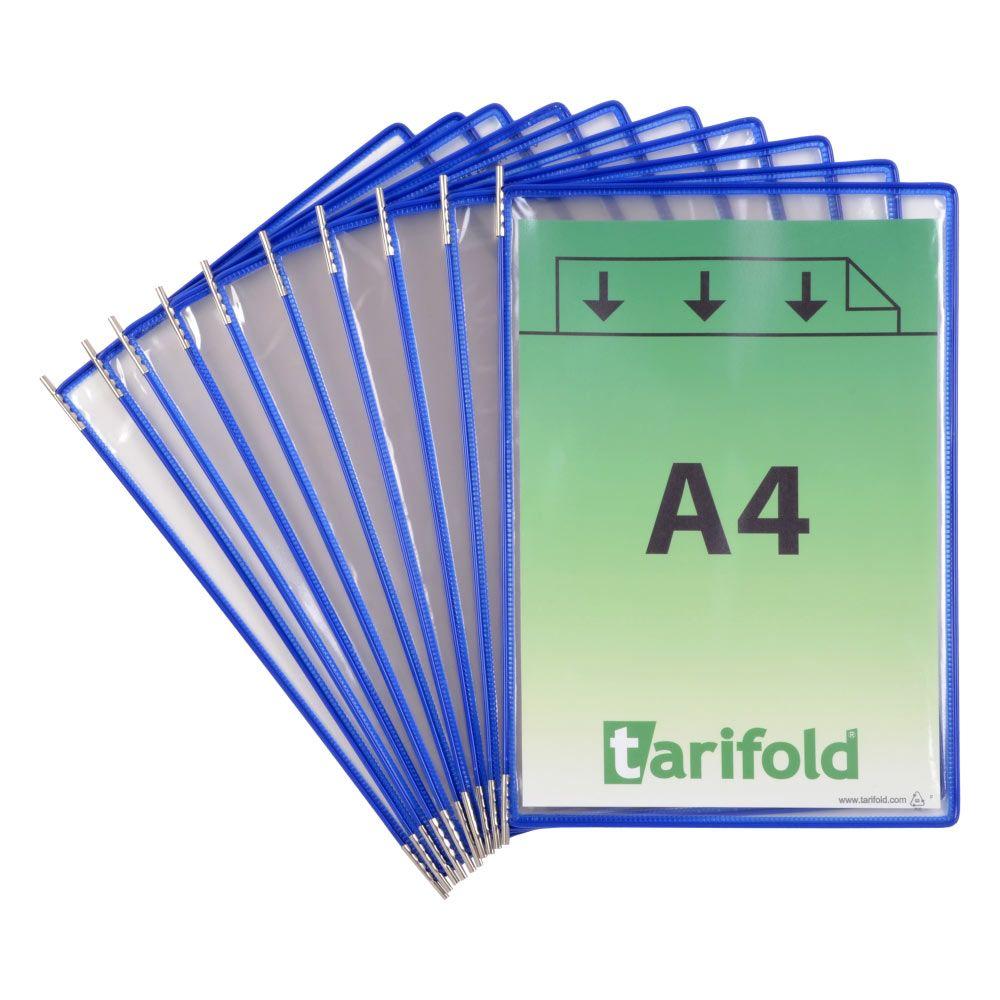 Kapsy Tarifold A4 - sada 10 ks - modré lemování kapsy