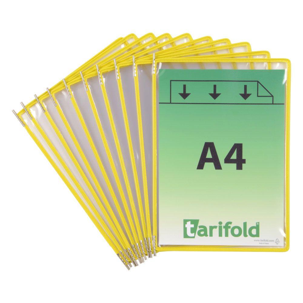 Kapsy Tarifold A4 - sada 10 ks - žluté lemování kapsy