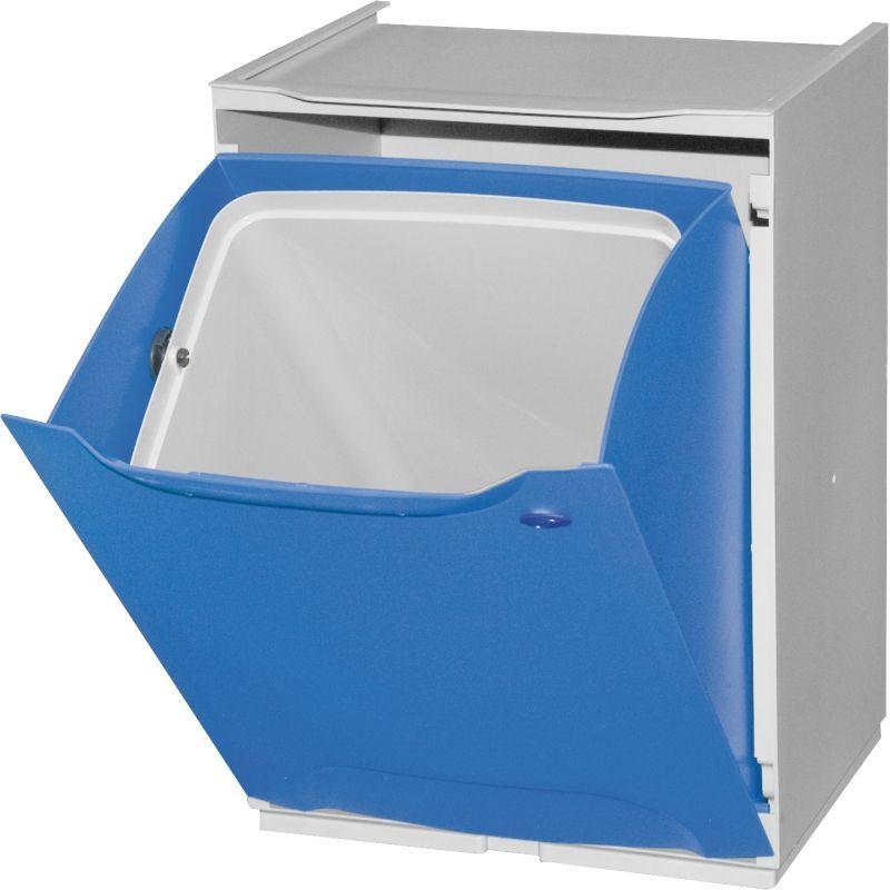 Plastový koš na tříděný odpad, Objem 14 litrů - modrý