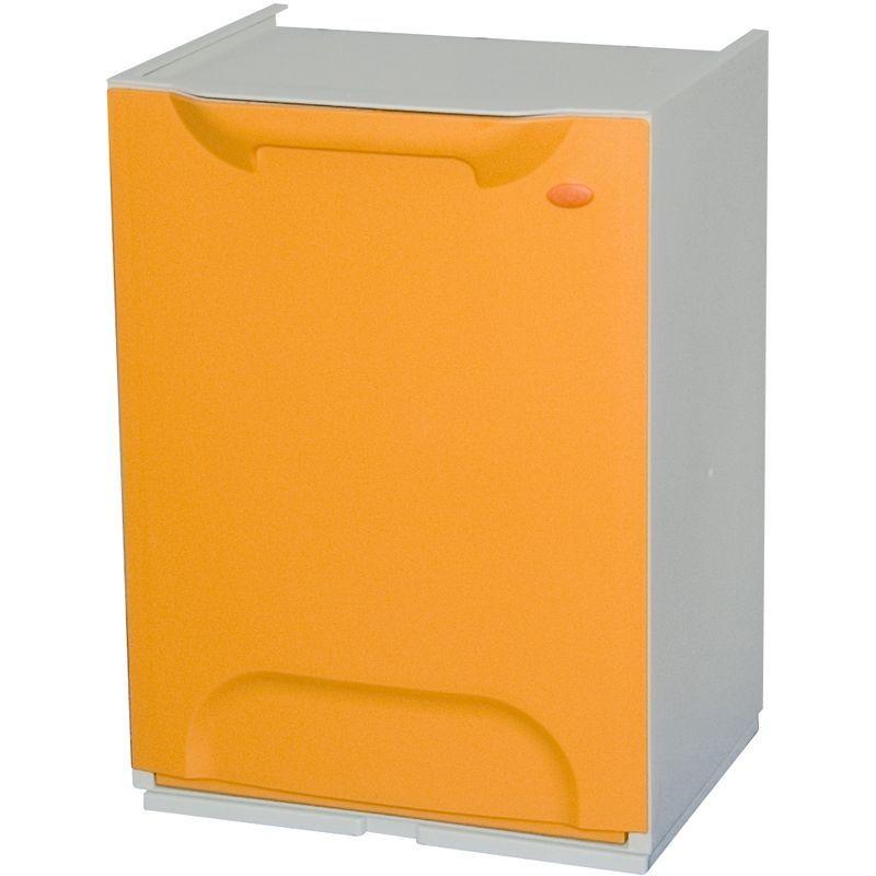 Plastový koš na tříděný odpad, Objem 14 litrů - oranžový