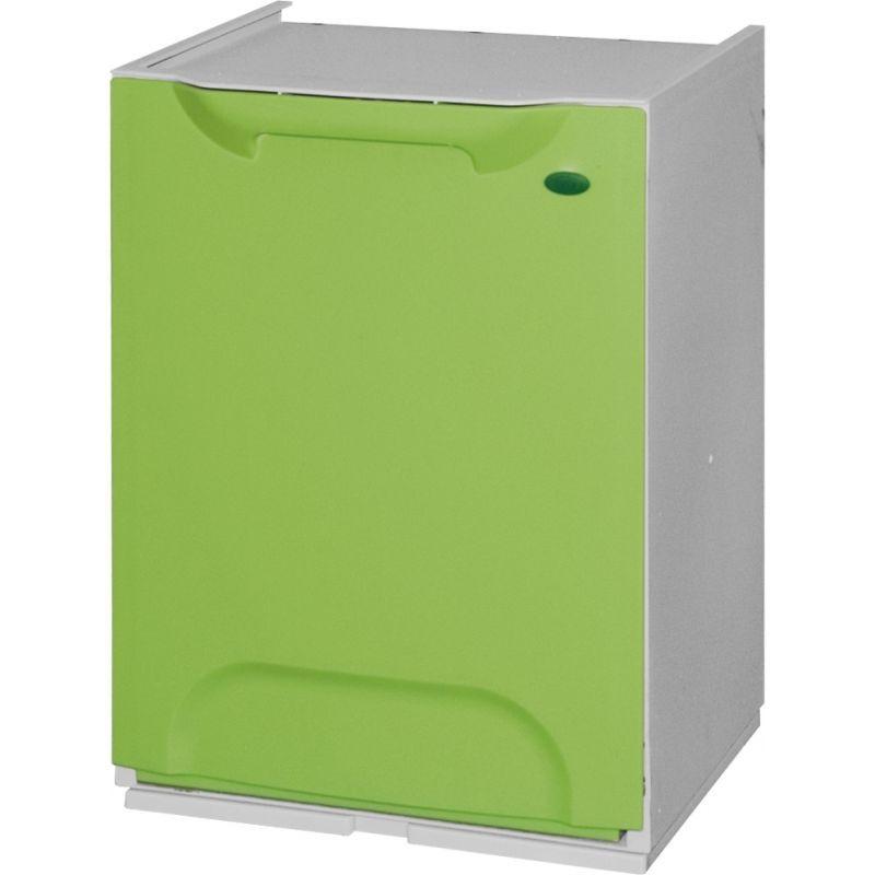 Plastový koš na tříděný odpad, Objem 14 litrů - zelený
