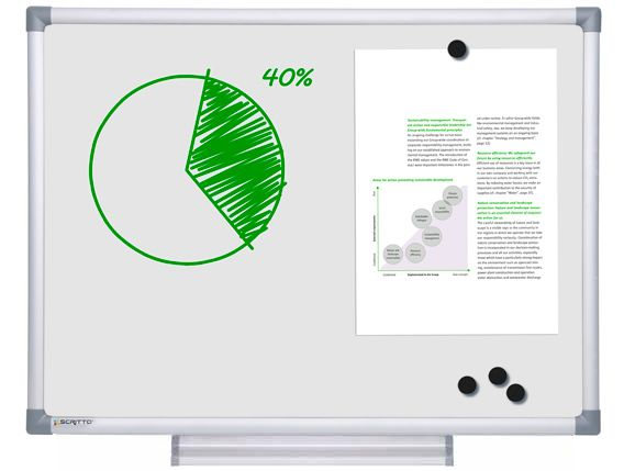 Popisovatelná magnetická tabule SCRITTO WHITEBOARD 60x45