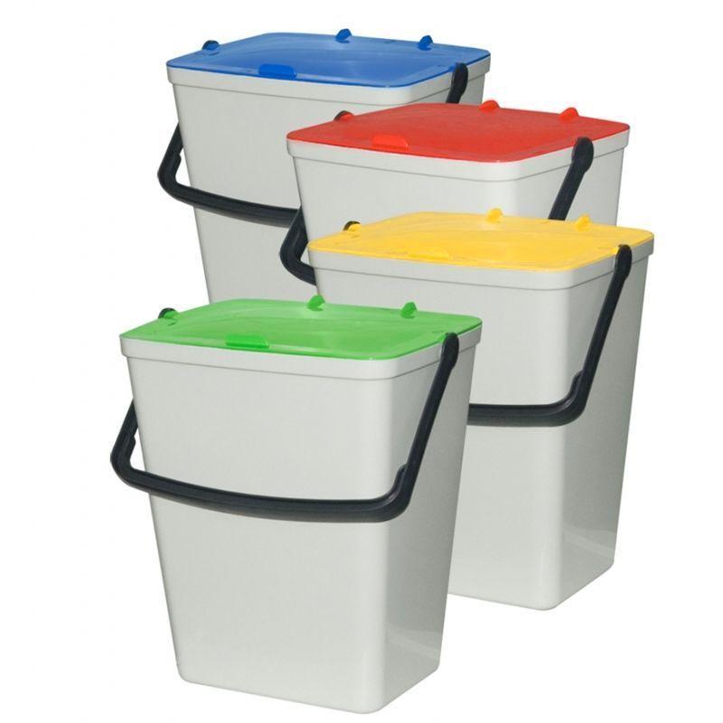 Sada plastových odpadkových košů na tříděný odpad 4x 15 l